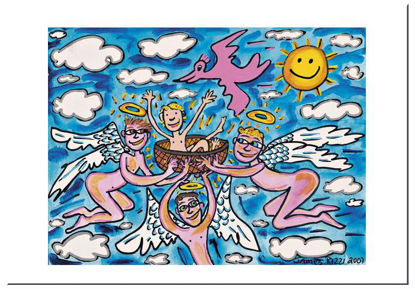 "James Rizzi Postkarte ""Welcome to the wo, 16.5x11.5x0.1cm"