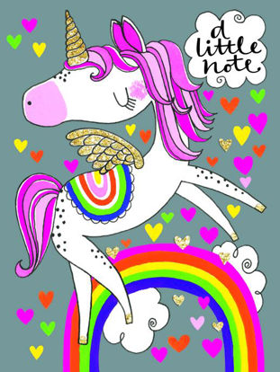 A Little Note - Unicorn - pack of 5 note
