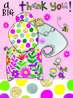 Pack of 5 A Big Thank You Elephant