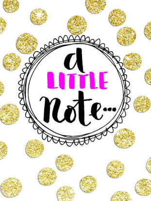 Pack of 5 A Little Note Gold Spots