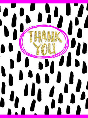 Thank You/Pink Fizz  Pack of 5 Notecards