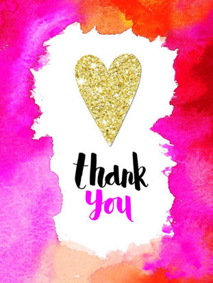 Thank You Heart/Flame - Pack of 5, Doppelkarten mit Couvert, 80x105mm