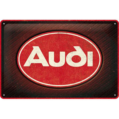 Audi - Logo Red Shine, tin sign 20 x 30 , Audi