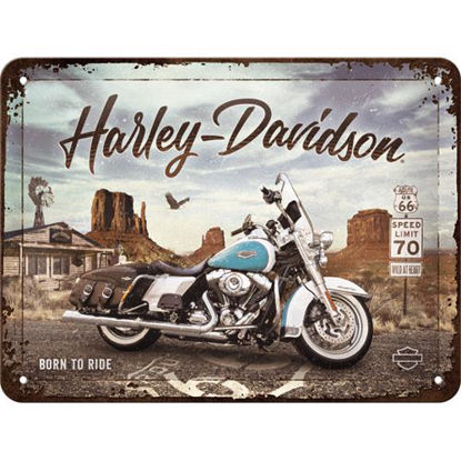 Harley-Davidson - Route 66 Road King Classic, tin signs 15 x 20, Harley-Davidson