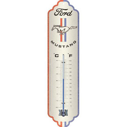 Ford Mustang - Horse & Stripes Logo, thermometer, Ford