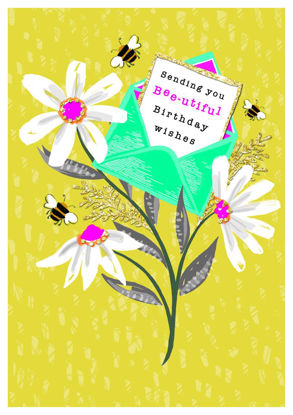 Piccolo - Birthday/Daisies, Doppelkarte mit Couvert, 108x153mm