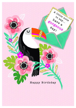 Piccolo - Birthday/Toucan, Doppelkarte mit Couvert, 108x153mm