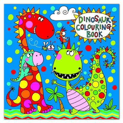 Square Colouring Book - Dinosaur, 205x205mm