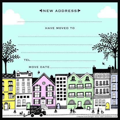 New Address Row of Houses - Pack of 8, 149x149mm