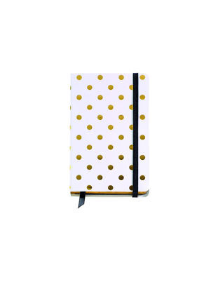 NOTE PAD 90X140 PLAIN LOGBOOK WHITE DOT GOLDEN MR
