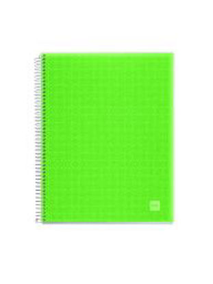 NB-4 A4 140 HOR PP APPLE GREEN CANDY COD Notizbuch 140 Seiten