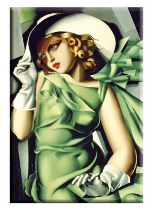 """Magnet Lempicka """"Young lady with gloves"""""""
