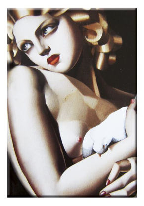 """Magnet Lempicka """"Woman with Dove"""""""