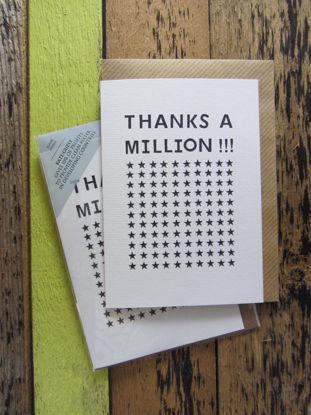 Thanks a Million, Doppelkarte B6, blanco