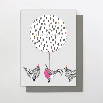 Card- party chickens, 127 x 176mm