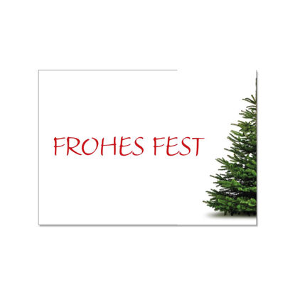 Postkarte quer, FROHES FEST