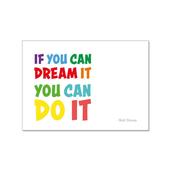 Postkarte quer, IF YOU CAN DREAMT IT YOU CAN DO IT. Walt Disney