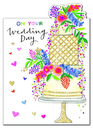 Cherry on Top - Wedding Day/Cake, Doppelkarte mit Couvert, 178x127mm