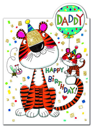 Cherry on Top - Daddy Birthday/Tigers, Doppelkarte mit Couvert, 178x127mm