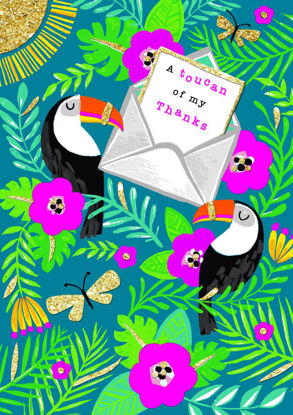 Piccolo - Thank You/Toucans, Doppelkarte mit Couvert, 108x153mm