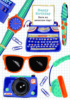 Piccolo - Typewriter, Sunglasses & Icons, Doppelkarte mit Couvert, 108x153mm