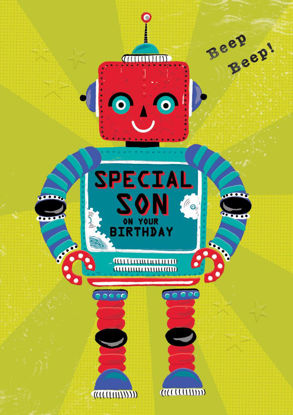 POP - Son Birthday/Robot, Doppelkarte mit Couvert, 108x153mm