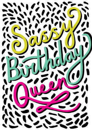 POP - Female Birthday/Sassy Birthday Que, Doppelkarte mit Couvert, 108x153mm