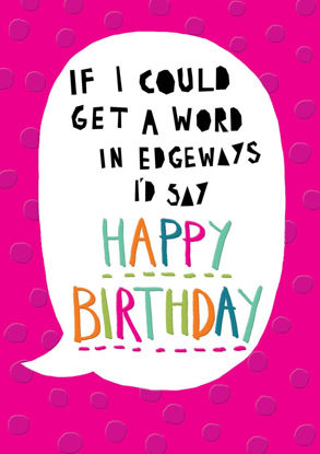 POP - Female Birthday/Word in Edgeways, Doppelkarte mit Couvert, 108x153mm