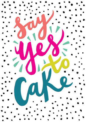 POP - Female Birthday/Yes to Cake!, Doppelkarte mit Couvert, 108x153mm