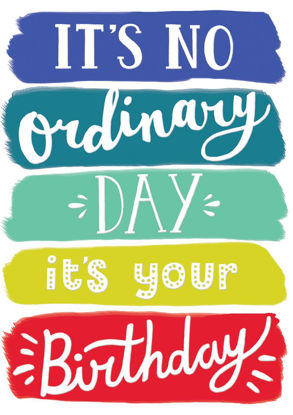POP - Male Birthday/No Ordinary Day, Doppelkarte mit Couvert, 108x153mm