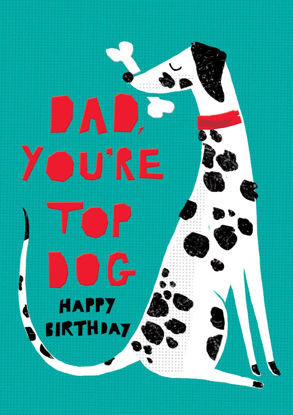 POP - Dad Birthday/Dalmation, Doppelkarte mit Couvert, 108x153mm