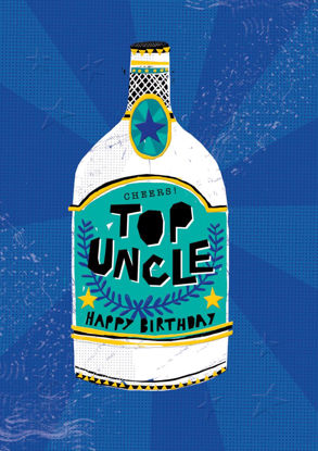POP - Uncle Birthday/Beer, Doppelkarte mit Couvert, 108x153mm