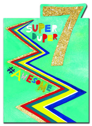 POW WOW - Age 7 Super Duper Awesome, Doppelkarte mit Couvert, 127x178mm