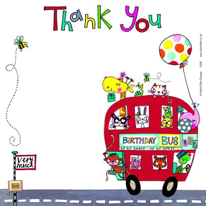Thank You/Birthday Bus (pack of 8), 149x149mm