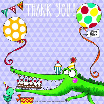 Thank You/Crocodile (pack of 8), 149x149mm