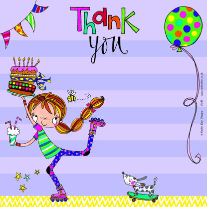 Thank You - Girl on Roller Blades (Pack, 149x149mm