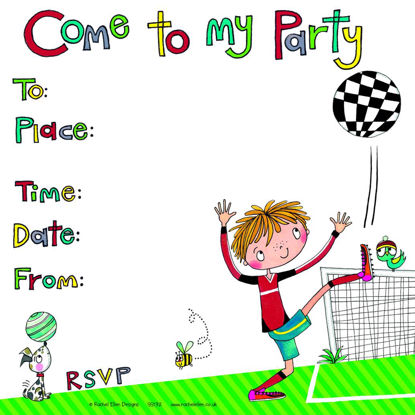 Come to my party Footballer Invite (Pack, 149x149mm