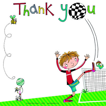 Thank you Footballer (Pack of 8), 149x149mm