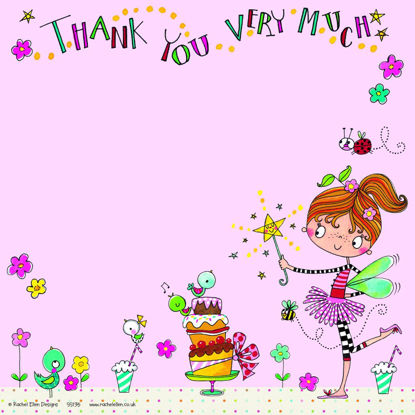 Thank You - Fairy & Cake (pack of 8), 149x149mm