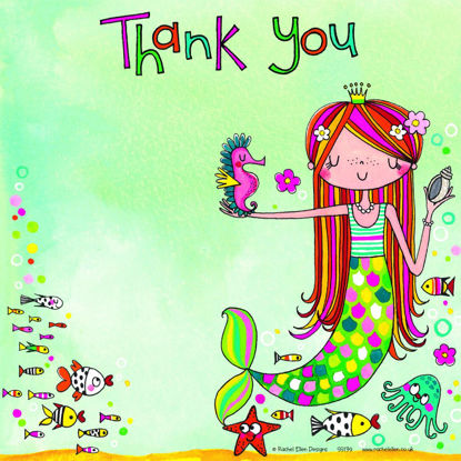 Mermaid Thank You (Pack of 8), 149x149mm