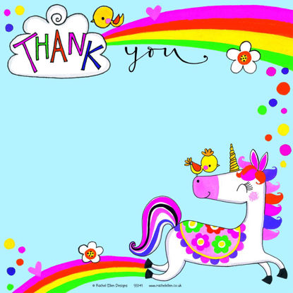Unicorn Thank You  (Pack of 8), 149x149mm