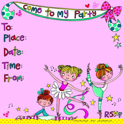 Party Invitation  Ballerinas - Pack of 8, 149x149mm