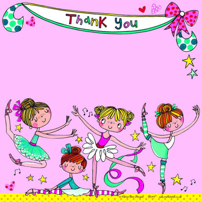 Thank you Ballerinas - Pack of 8, 149x149mm
