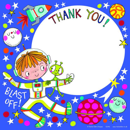 Thank you Outer Space - Pack of 8, 149x149mm