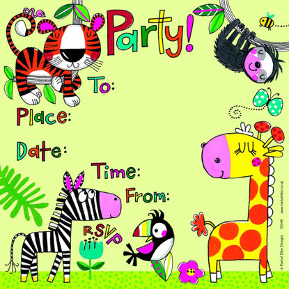 Party Invitation Jungle - Pack of 8, 149x149mm