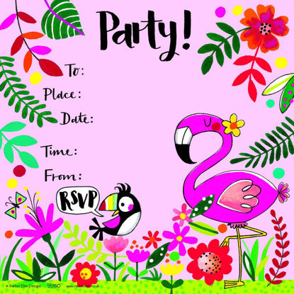 Party Invitation Tropical - Pack of 8, 149x149mm