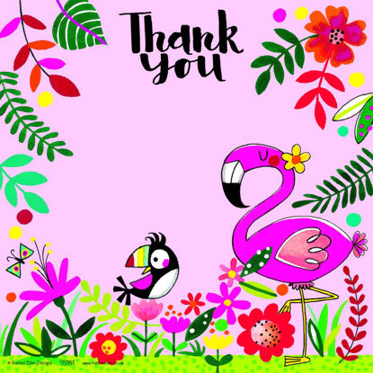 Thank you Tropical - Pack of 8, 149x149mm