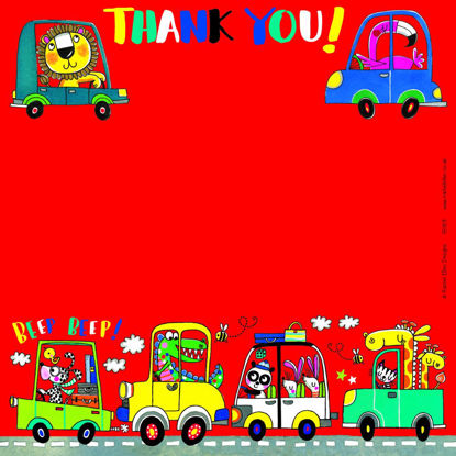 Thank You Beep Beep Cars- Pack of 8, 149x149mm
