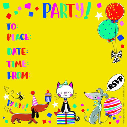 Party Invite Cats & Dogs - Pack of 8, 149x149mm