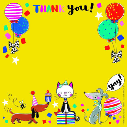 Thank You Cats & Dogs - Pack of 8, 149x149mm